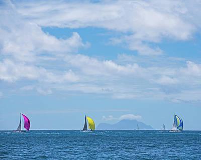 Photograph - 2017 Heineken Regatta Sailing Past Saba Saint Martin Sint Maarten by Toby McGuire