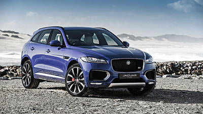 First Edition Digital Art - 2017 Jaguar F Pace First Edition  1 by F S