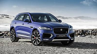 First Edition Digital Art - 2017 Jaguar F Pace First Edition  by F S