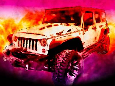 Digital Art - 2017 Jeep Unlimited Beast by Chas Sinklier