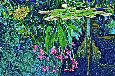 Photograph - 2017 Late August Thai Pavilion Reflection Pool by Janis Nussbaum Senungetuk