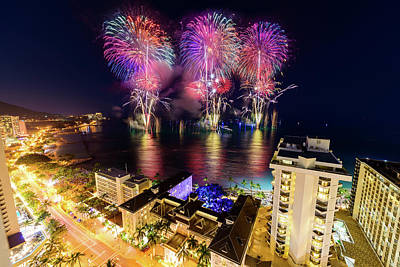 Photograph - 2017 Nagaoka Fireworks 1 by Jason Chu