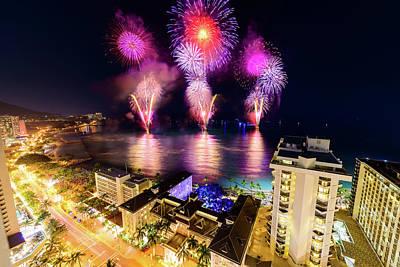 Photograph - 2017 Nagaoka Fireworks 10 by Jason Chu