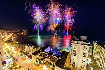 Photograph - 2017 Nagaoka Fireworks 14 by Jason Chu