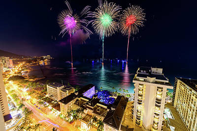 Photograph - 2017 Nagaoka Fireworks 22 by Jason Chu