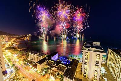 Photograph - 2017 Nagaoka Fireworks 3 by Jason Chu