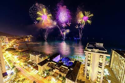 Photograph - 2017 Nagaoka Fireworks 34 by Jason Chu