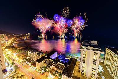 Photograph - 2017 Nagaoka Fireworks 5 by Jason Chu