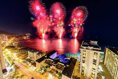 Photograph - 2017 Nagaoka Fireworks 41 by Jason Chu