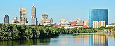 The 500 Photograph - 2017 Panoramic Of Indy by Frozen in Time Fine Art Photography