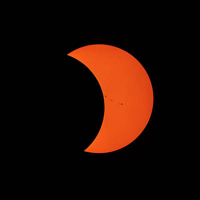 Photograph - 2017 Partial Solar Eclipse From New Jersey At 319  by Terry DeLuco