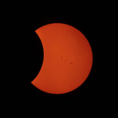 Photograph - 2017 Partial Solar Eclipse From New Jersey At 338  by Terry DeLuco