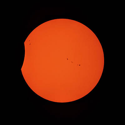 Photograph - 2017 Partial Solar Eclipse From New Jersey At 359  by Terry DeLuco