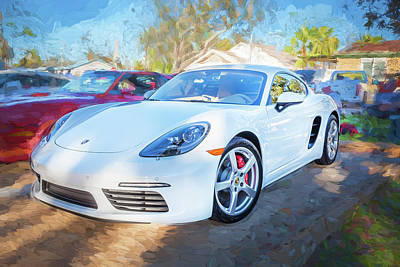 Photograph - 2017 Porsche Cayman 718 S     by Rich Franco