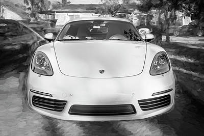 Photograph - 2017 Porsche Cayman 718 S  Bw    by Rich Franco
