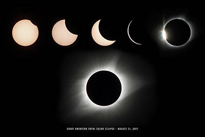 Photograph - 2017 Solar Eclipse Composite by Andy Smetzer