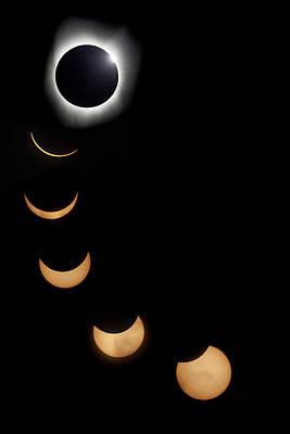 2017 Solar Eclipse Composite Art Print