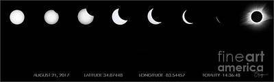 Totality Photograph - 2017 Solar Eclipse by Doug Sturgess