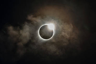 Photograph - 2017 Solar Eclipse Exit Ring by Josh Bryant