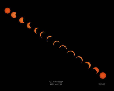 Photograph - 2017 Solar Eclipse by Mark Allen