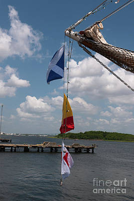 Photograph - 2017 Tall Ship Flags by Dale Powell
