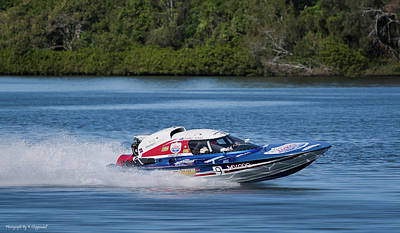 Digital Art - 2017 Taree Race Boats 01 by Kevin Chippindall