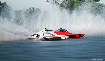 Digital Art - 2017 Taree Race Boats 05 by Kevin Chippindall