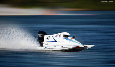 Digital Art - 2017 Taree Race Boats 09 by Kevin Chippindall