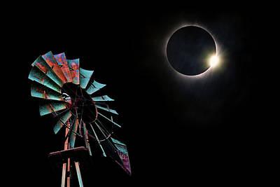 Photograph - 2017 Total Eclipse Central Nebraska by Sylvia Thornton