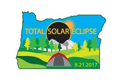 Digital Art - 2017 Total Solar Eclipse Camping Trip Map by Jit Lim