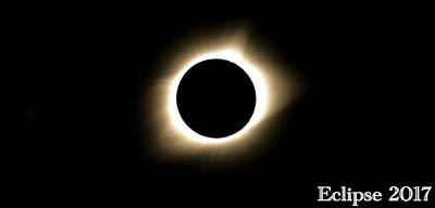 Totality Photograph - 2017 Total Solar Eclipse by Dan Sproul