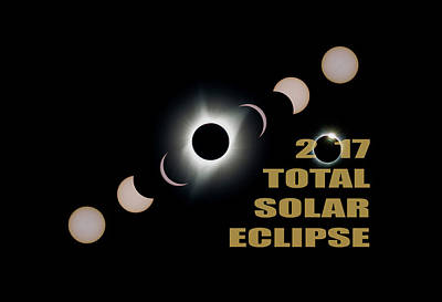Corona Photograph - 2017 Total Solar Eclipse Phases by David Gn