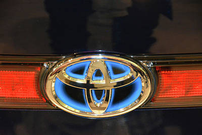 Photograph - 2017 Toyota Mirai Badge by Mike Martin