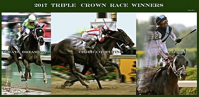 2017 Triple Crown Race Winners Art Print