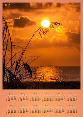 Seascape Photograph - 2017 Wall Calendar 2 by Zina Stromberg