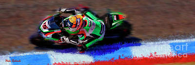 Photograph - 2017 World Superbike Alex De Angelis by Blake Richards