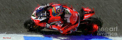 Photograph - 2017 World Superbike Chaz Davies From Above by Blake Richards