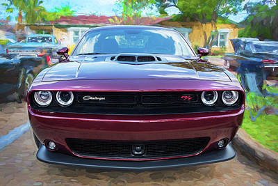 Photograph - 2018 Dodge Challenger 392 Hemi Scat Pack Shaker Rt 003 by Rich Franco