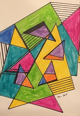 Drawing - 2018 Geometric by Erika Chamberlin