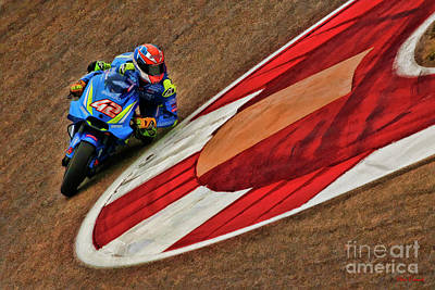 Photograph - 2018 Motogp Alex Rins  by Blake Richards