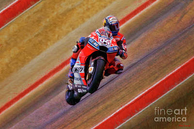 Photograph - 2018 Motogp Andrea Dovizioso Middle Of The Art by Blake Richards