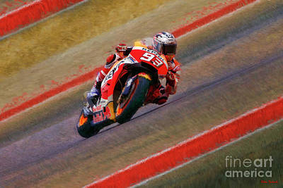 Photograph - 2018 Motogp Marc Marquez Middle Of The Art by Blake Richards
