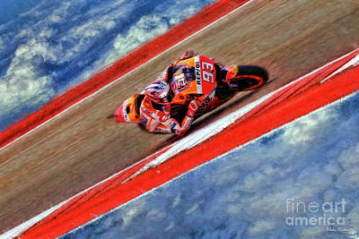 Photograph - 2018 Motogp Marc Marquez Sky Track by Blake Richards