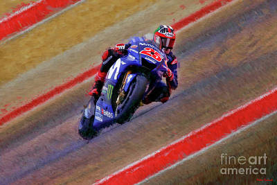Photograph - 2018 Motogp Maverick Vinales Middle Of The Art by Blake Richards