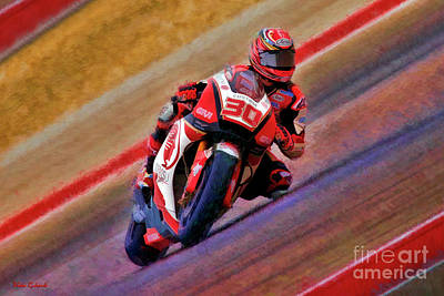 Photograph - 2018 Motogp Takaaki Nakagami Middle Of The Art by Blake Richards