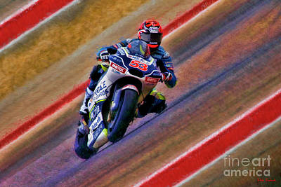 Photograph - 2018 Motogp Tito Rabat Middle Of The Art by Blake Richards