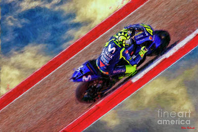 Photograph - 2018 Motogp Valentino Rossi Sky Track by Blake Richards