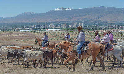 Photograph - 2018 Reno Cattle Drive 7 by Rick Mosher