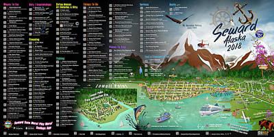Digital Art - 2018 Seward, Alaska Qr Code Directory by Cindy Anderson