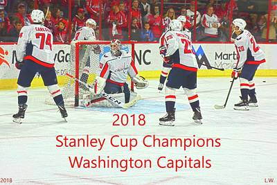 Photograph - 2018 Stanley Cup Champions Washington Capitals by Lisa Wooten